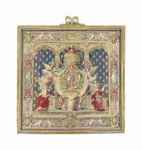 A ROYAL LOUIS XIV CHANCELLERIE TAPESTRY