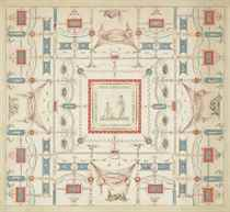 Design for a ceiling with grotesque decoration and a central panel of Venus and Psyche (?)