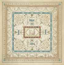 Design for a ceiling with grotesque decoration and a central panel of Minerva
