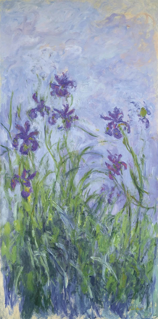 Claude Monet 1840 1926 Iris Mauves 1910s Paintings
