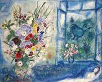Bouquet près de la fenêtre