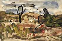 The yellow house (recto); and A landscape scene (verso)