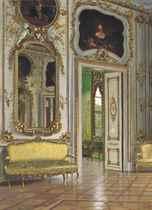 The banqueting room, Christian VII's Palace, Amalienborg, Denmark