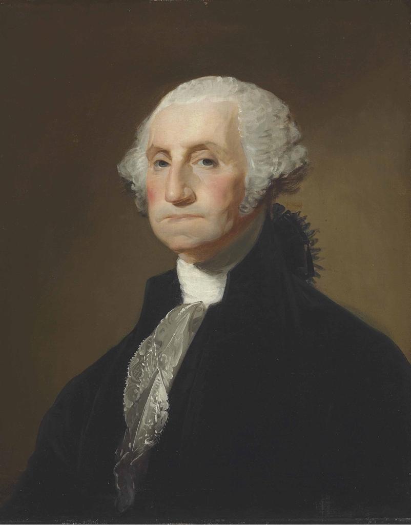 Gilbert Stuart 1755 1828 Portrait Of George Washington