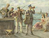Band Playing by the Hudson