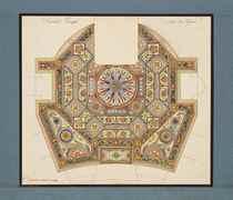 Projet de tapis à décors géométriques pour la chambre turque du général Lanskoy