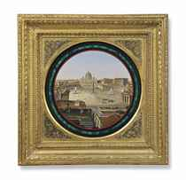 AN ITALIAN MICROMOSAIC PLAQUE OF ST PETER'S SQUARE