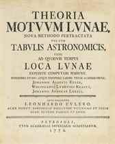 EULER, Leonhard (1707-1783) Theoria Motuum Lunae, nova metho