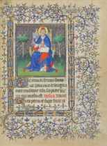 ST PETER, miniature on a leaf from the Chester Beatty Book o