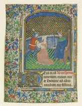 MASSACRE OF THE INNOCENTS, miniature on a leaf from a Book o