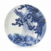 A Nabeshima Shakuzara [Large Dish]