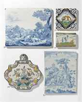 A DUTCH DELFT DATED RECTANGULAR BLUE AND WHITE PLAQUE