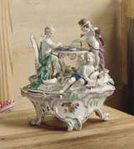 A MEISSEN GROUP AND ROCOCO STAND EMBLEMATIC OF LOVE