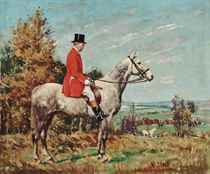 George Campbell Esq., on a dappled grey hunter