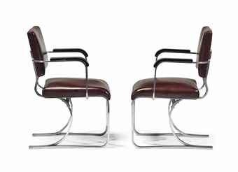 marcel breuer 1902 1981 paire de fauteuils 39 308 39 le modele cree vers 1935 realise par. Black Bedroom Furniture Sets. Home Design Ideas