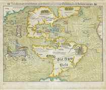 MÜNSTER, Sebastian (1489-1552) Tabula novarum insularum, qua