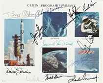 ASTRONAUTS A collection of 47 signed photographs, documents,