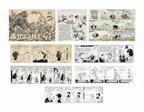 [CARTOONS, COMIC STRIPS AND ILLUSTRATIONS] An extensive coll