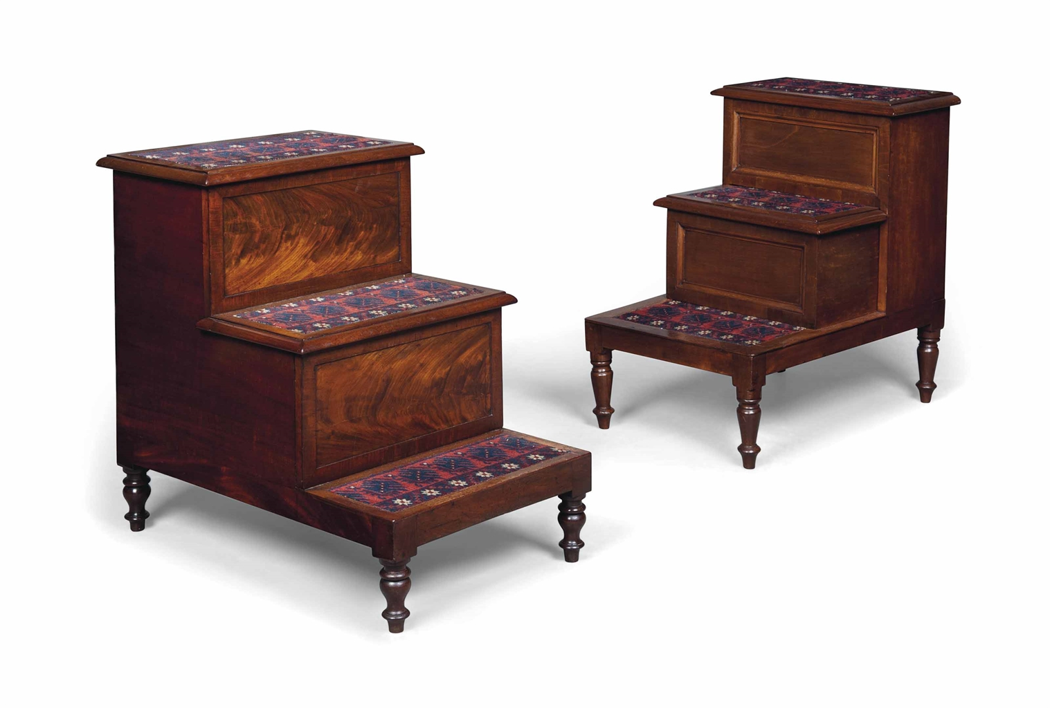 Two george iv mahogany bedside step commodes circa 1825 for Furniture 1825