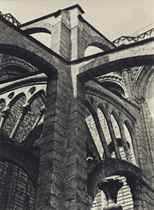 Chartres-Flying Buttresses at the Crossing, 1929