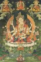 A Painting of Ushnishavijaya
