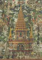 A Painting of the Mahabodhi Vihar