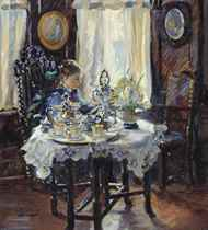 At the breakfast table