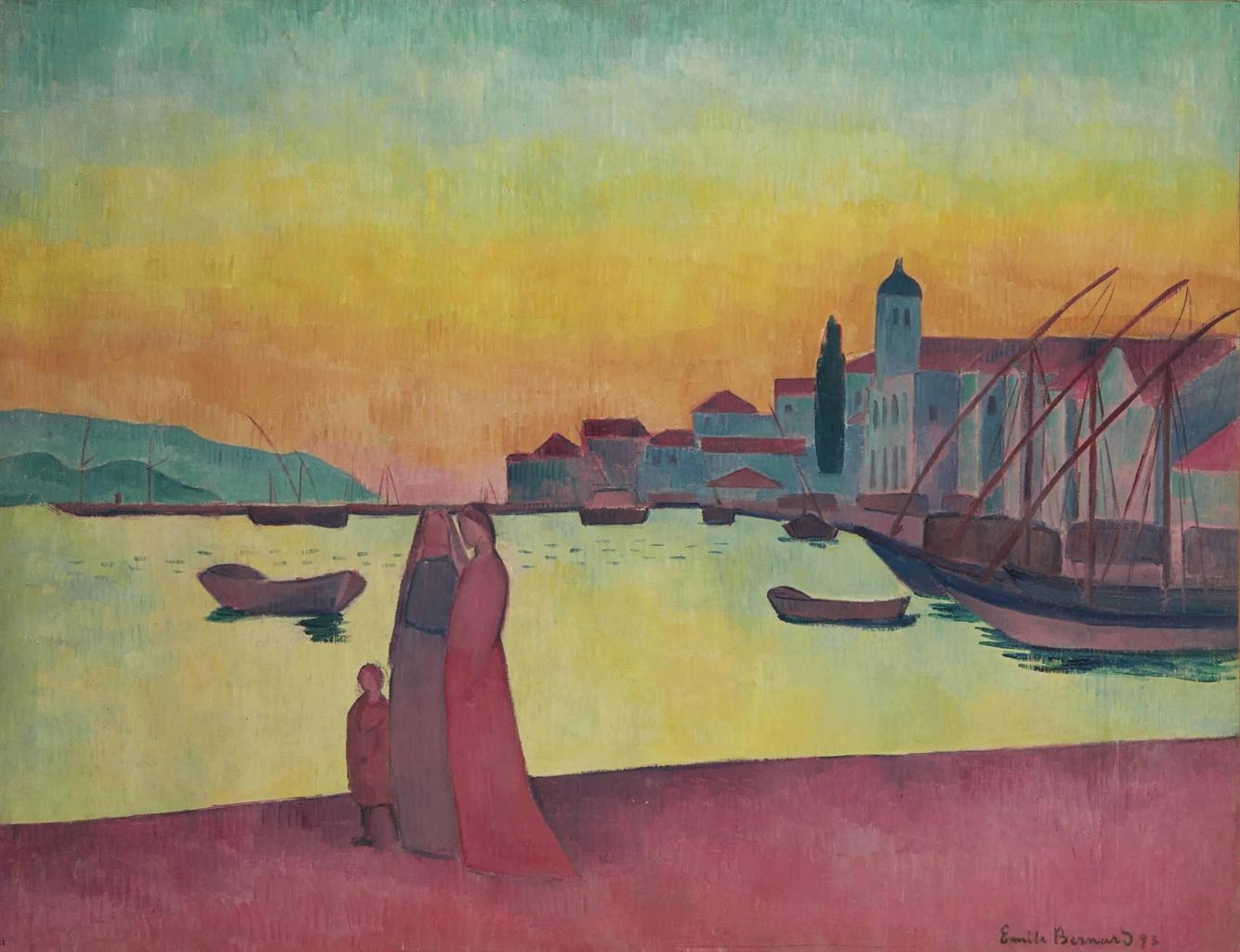 mile bernard 1868 1941 vue du port de vathy samos