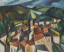 Le bourg dans la vallée