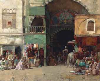 Marketplace at the Entrance to a Bazaar, Constantinople