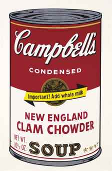 Andy Warhol New England Clam Chowder, from Campbell's Soup II
