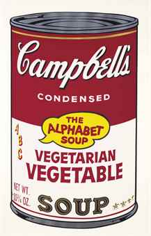 Andy Warhol Vegetarian Vegetable, from Campbell's Soup II