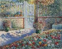 A blooming garden