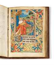 BOOK OF HOURS, use of Coutances, in French and Latin, illumi