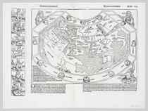 """SCHEDEL, Hartmann (1440-1514) World map """"Secunda etas mundi"""""""