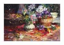 Mountain Laurel, Iris and Daffodils