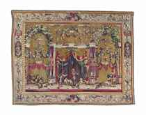 THE ANIMAL TAMERS  A LOUIS XIV 'GROTESQUE CHINOIS' TAPESTRY