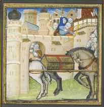 THE SIEGE OF WINCHESTER AND THE BURIAL OF LIONEL, miniature