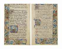 BOOK OF HOURS, use of Paris, in French and Latin, illuminate