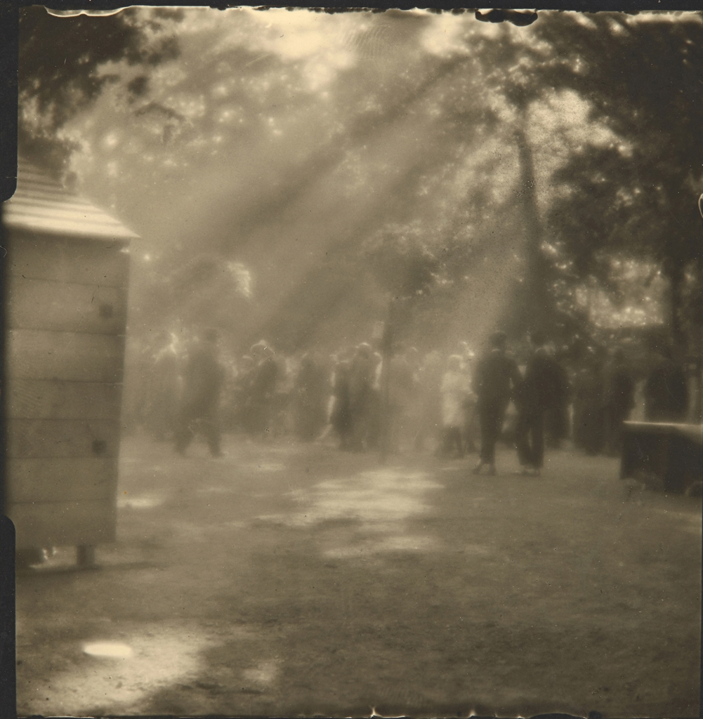 Josef Sudek (1896-1976), Sunday Afternoon on Kolin Island, 1922. Signed and dated in pencil (margin), image 8.7 x 8.7 cm (3⅜ x 3⅜ in); sheet 11.1 x 9.1 cm (4⅜ x 3⅝ in). Estimate £2,600-3,000. This lot is offered in The Representation of the Body Works from the Shalom Shpilman Collection, 18-27 October 2016, Online