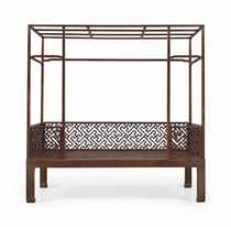 A MAGNIFICENT SIX-POST HUANGHUALI CANOPY BED, JIAZICHUANG