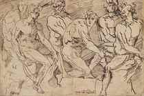 A frieze of male nude figures