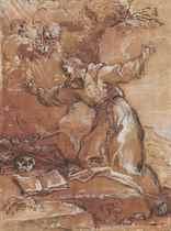 Saint Francis adoring the Crucifix