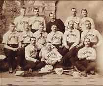 1886 DETROIT WOLVERINES CABINET PHOTOGRAPH