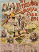 1894 PITTSBURGH BASE BALL CLUB ADVERTISING SCHEDULE POSTER
