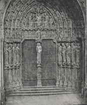Cathédrale de Chartres. Porche méridional. Porte Centrale, 1856-1857