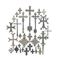 A LARGE COLLECTION OF COPTIC CROSSES