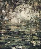 Swans & waterlilies