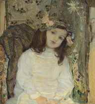 Portrait of the Artist's Daughter, Ulrike Hampel, aged 4