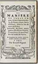 """[BROSSARD, David (""""frere Dany"""")] La Manière de semer pépins,"""